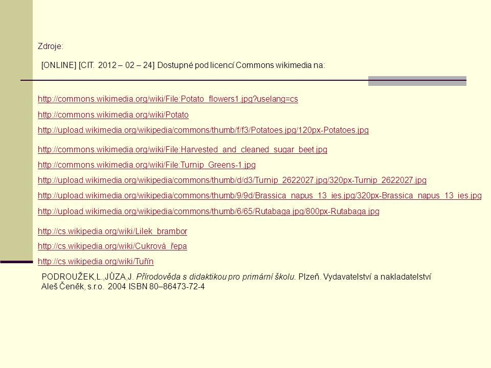 Zdroje: [ONLINE] [CIT. 2012 – 02 – 24] Dostupné pod licencí Commons wikimedia na: